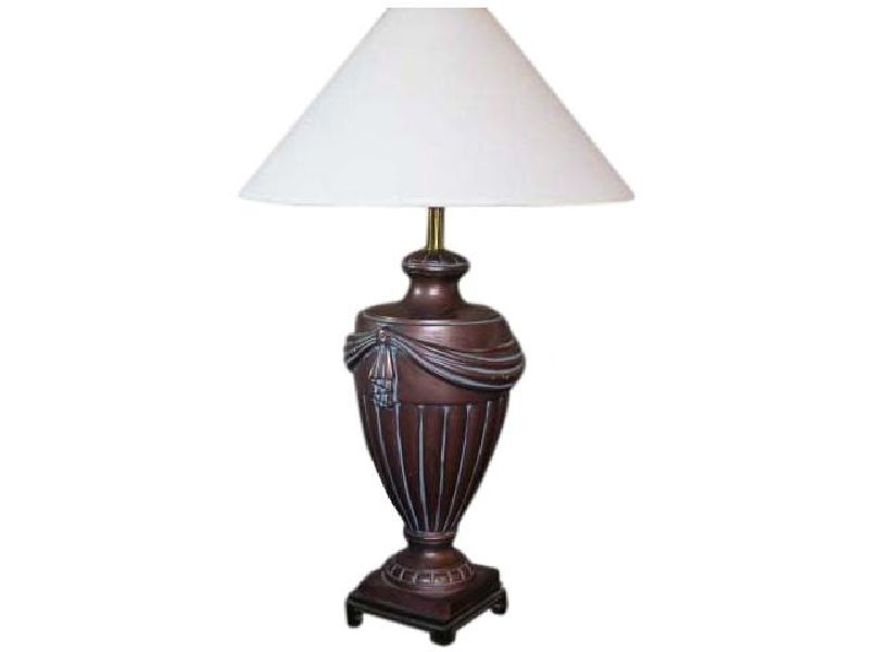 Large Bronze Draped Urn Lamp