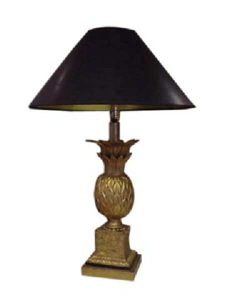 Antique Gold Pineapple Table Lamp