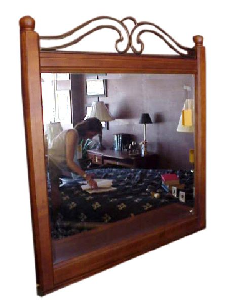 1222 Grilled Landscape Mirror