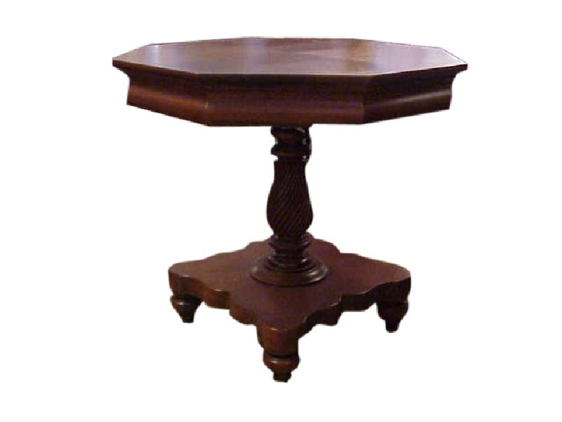Hexigon Mahogany End Table