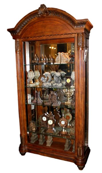 Old World Brown Curio Cabinet